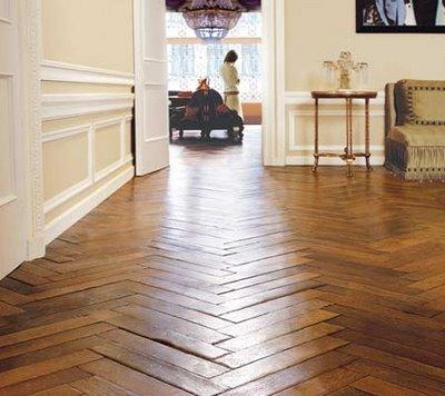 chevron wooden floor