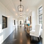 Dark herringbone wooden floors