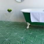 green cement tiles