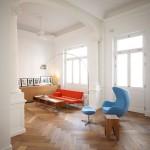 light herringbone parquetry floor