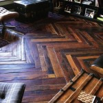 dark Herringbone floor