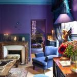 purple and blue interior