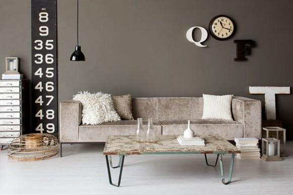 Industrial design room panda 39 s house for Industrial chic living room