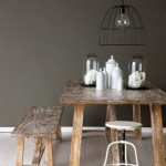 Rustic industrial style dining