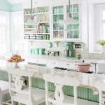 Jade and white country kitchen