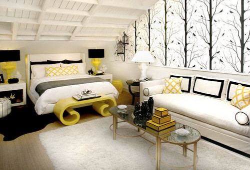 Black White and Yellow Bedroom Decor 500 x 341