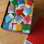 pantone cookies in a box
