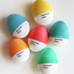 pantone eggs for easter
