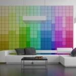 pantone wall in living room