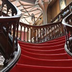 red gothic staircase