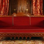 Step into the drawing room to see this neo-Norman style oak settee