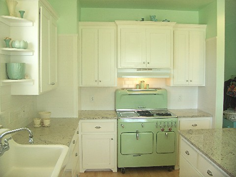 Retro jade kitchen