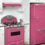 retro kitchen pink