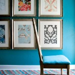 turquoise chair and wall