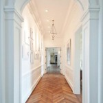 Herringbone floors in the hallway