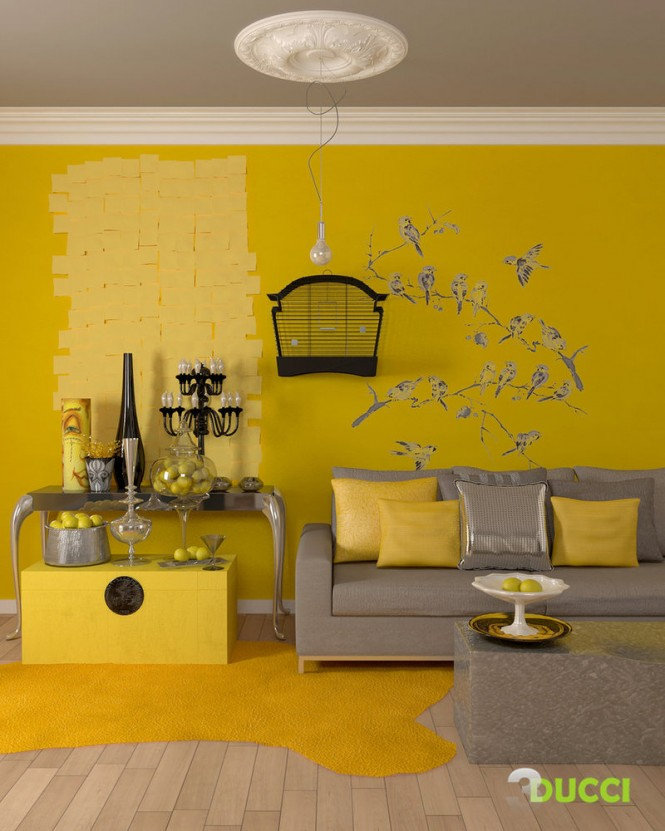 Yellow Black Grey Living Room Panda 39 S House