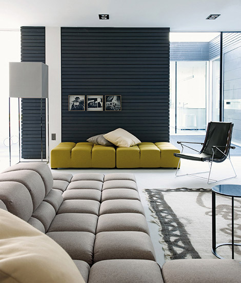 Yellow sofa interior design modern panda 39 s house - Yellow interior house design photos ...