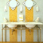 mustard yellow bathroom