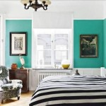blue and turquoise bedroom