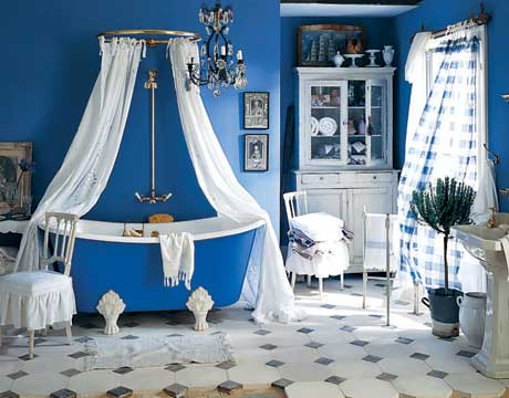 Blue bathroom love panda 39 s house - Cobalt blue bathroom accessories ...