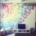 diy paint chip wall