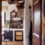 Kitchen in Belvedere castle in Umbria Italy.