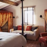 Circus themed bedroom in Belvedere castle in Umbria Italy.
