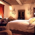 Bedroom in Belvedere castle in Umbria Italy.