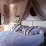 Bedroom in Belvedere castle in Umbria Italy.