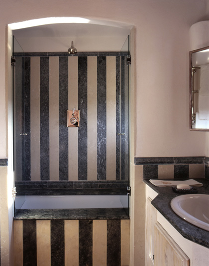 Bathroom in Belvedere castle in Umbria Italy.