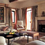 lounge room in Belvedere castle in Umbria Italy.