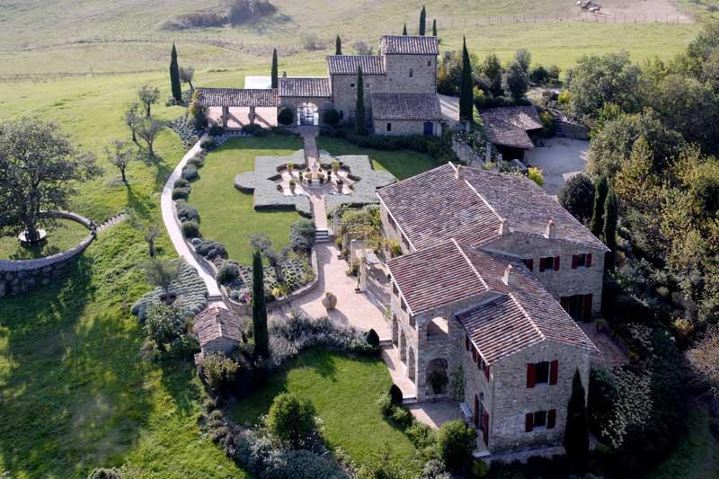 Belvedere castle in Umbria Italy