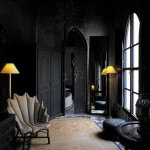 black interior design morocco
