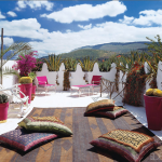 terrace Moroccan style