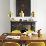Mustard yellow dining chairs