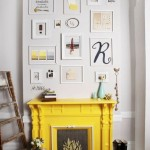 fireplace in yellow