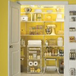 Yellow and white pantry