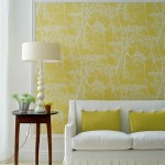 mustard yellow living room