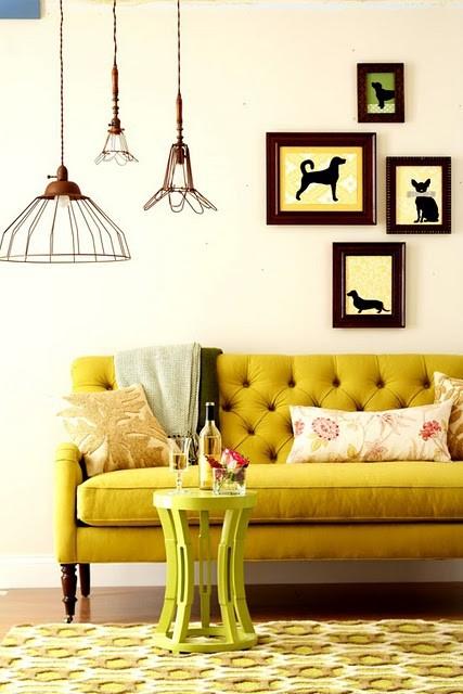 mustard yellow interiors panda s house