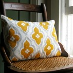 mustard yellow cushion