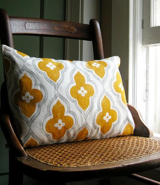 mustard yellow cushion