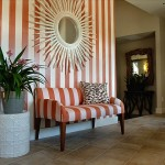 orange pinstripe foyer