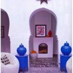 purple Moroccan fireplace