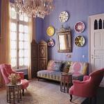 Purple Moroccan interior design