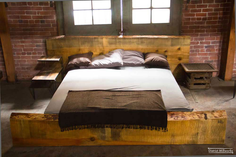 urban rustic beds rustic industrial bedroom bed