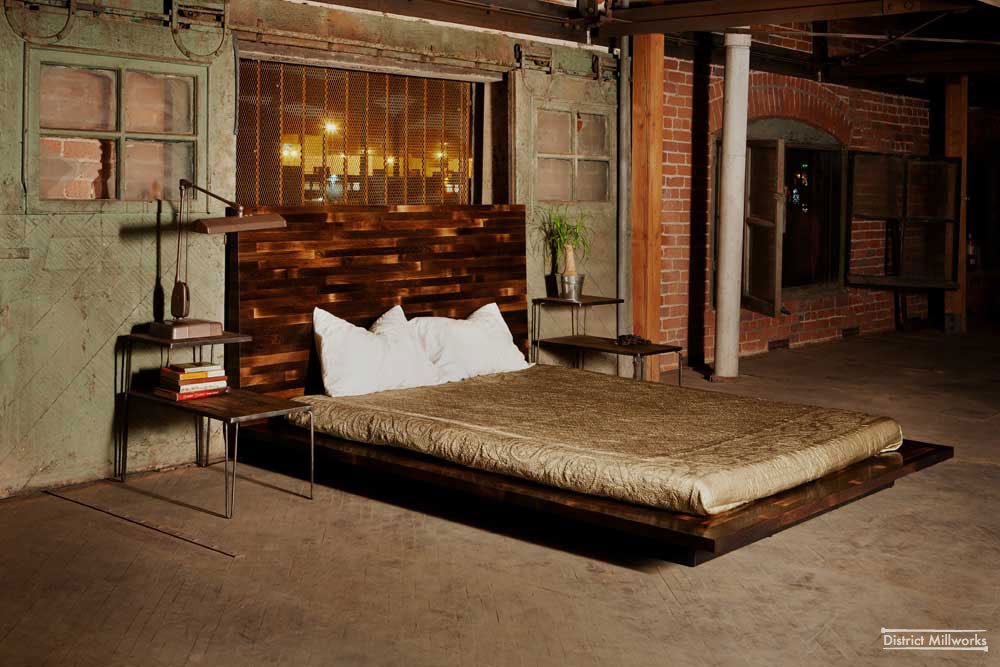 Urban Rustic Beds Rustic urban industrial bedroom design
