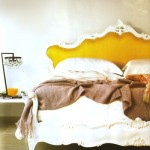 mustard yellow headboard