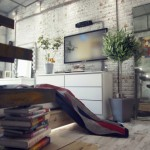 Industrial style loft bedroom