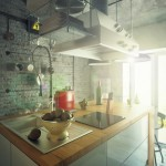 Industrial style loft kitchen