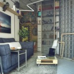 Industrial style loft Living Room
